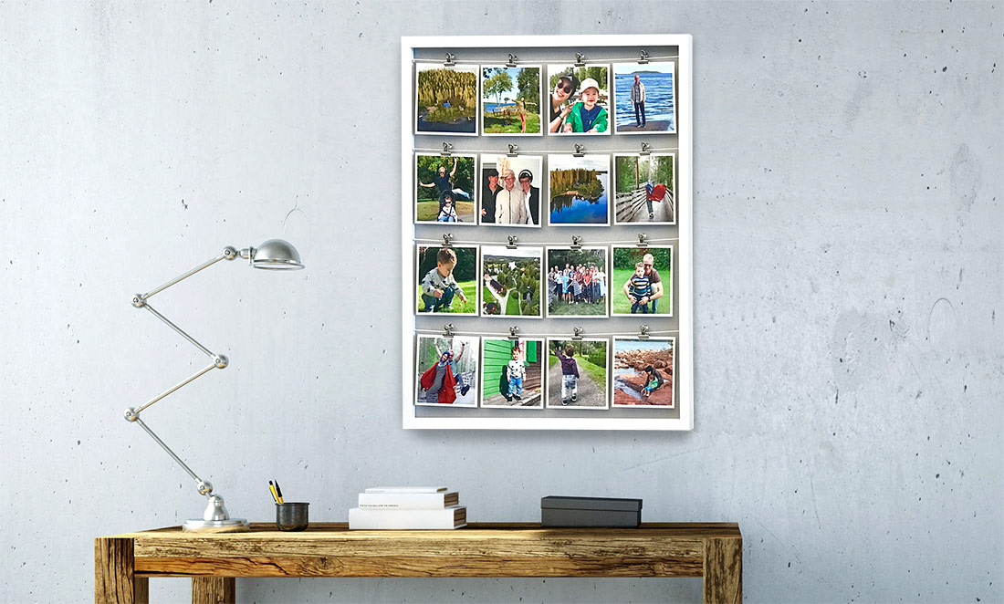 Clip Frame with Square Prints
