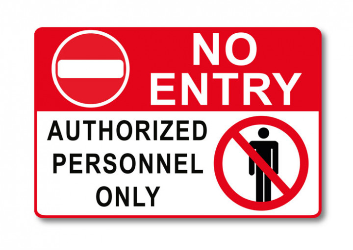No Entry Sign - 4x5 Inch