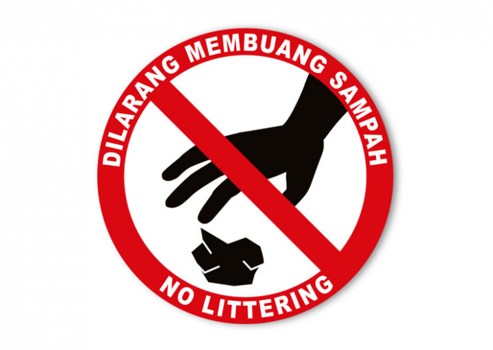 No Littering Sign - 4x4inch