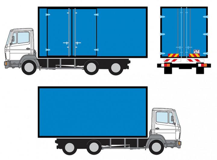 3-ton box truck sticker wrap