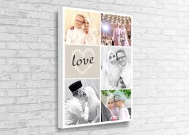 Collage Canvas - 5 Photos Love