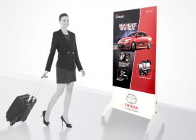 LED Light box Free Standing - 5.5' x 2.6' (Double-Sided)