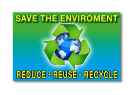 Save Environment Sign - 5x10inch
