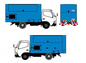 box truck sticker wrap 1ton