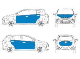 Car Small Size - Partial Wrap