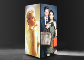 LED Tension fabric Lightbox - 80mm (45 degree)