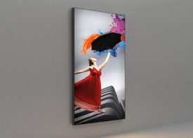 LED Tension Fabric Lightbox - 60mm Wall Mounted (Slim)