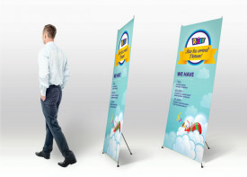 X-Stand banner 60 x 180 cm