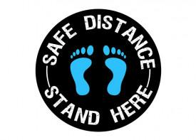 Social Distancing Floor Sticker - 12x12inch
