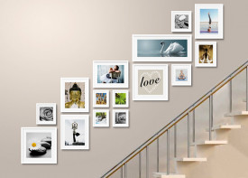 """Gallery Wall Staircase - 85""""x 110"""""""