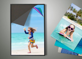 1 Magnetic Float Frame + 3 Easy Fix Prints - Portrait Sizes