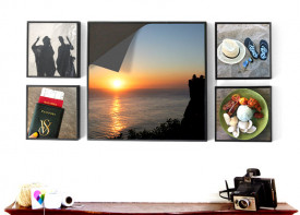 """Magnetic Frame Wall Display - 24""""x 50"""""""