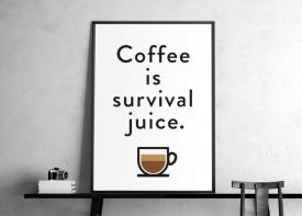 """Coffee Survival Juice - white  """