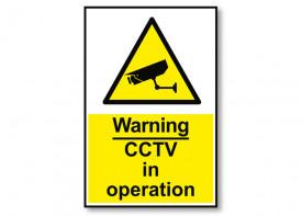 Sign CCTV - 5x10inch