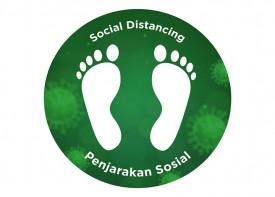 Social Distancing Floor Sticker - 12x12 inch