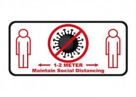 Social Distancing Floor Sticker - 6x12inch