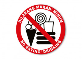 No Eating Sign - 4x4inch