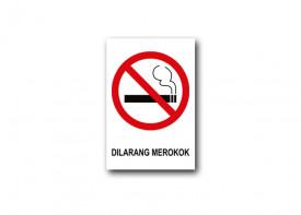 """8""""x 12"""" (20 x 30 cm)  No Smoking Sign - PVC Board 3mm"""