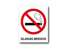 """16""""x 20"""" (40 x 50 cm)  No Smoking Sign - PVC Board 3mm"""