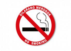 No Smoking Sign 15cm x 15cm - Sticker