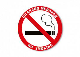"6""x 6"" (15x15cm)  No Smoking Sign - Sticker"